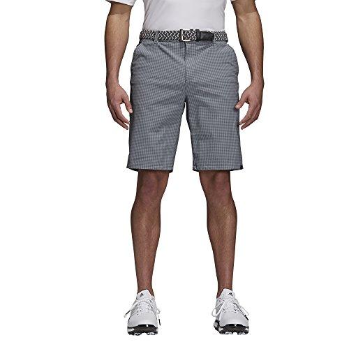 adidas ultimate365Gingham Plaid Short de Golf, Homme XXL Noir