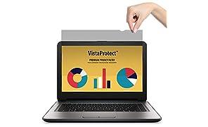 """VistaProtect - Filtre de Confidentialité Premium, Film Protection Anti Regard pour Écran d'Ordinateur & Moniteur (14"""" Pouces)"""