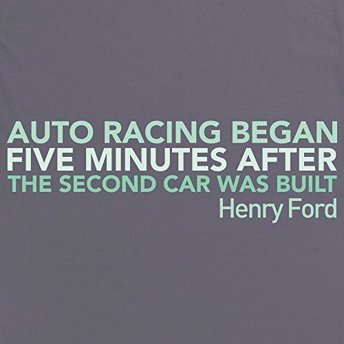 PistonHeads Auto Racing Quote T-Shirt, Herren Anthrazit