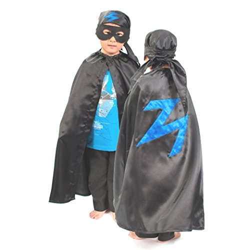 Bandit Kostüm Kinder (3-8 Jahre alt) - Umhang, Kopftuch und Maske - Zorro Kostüm - Slimy Toad