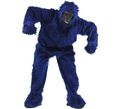 Limit Sport - Disfraz de peluche gorila para adultos, color azul, talla XL (MA067Z)