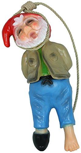 Dekofigur Gartenzwerg erhängt PVC made in Germany Gartenfigur Dekozwerg - 2