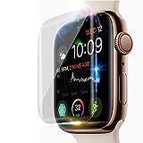 [2 Stück]Apple Watch serie 4 40 mm Panzerglas Schutzfolie,0,33mm,3D, [Bubble-frei] [9H Härte] [Einfache Installation] [Ultra-klar][Anti-Kratzen Wasserdicht] Gehärtetes Glas Displayschutzfolie