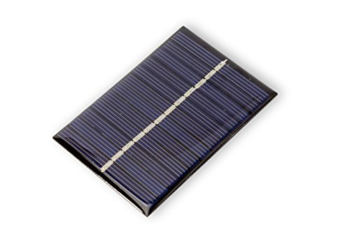 Panel solar, 0,6 Watt, 6 V, 100 mA para modelo de bricolaje de jardín Arduino. Perfecto para experimentar.Este panel solar puede alimentar directamente un Arduino Nano o Pro-Mini en el Raw-pin sin accesorios adicionales, ya que la placa solo necesita...
