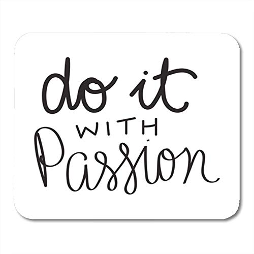 HOTNING Gaming Mauspads Mouse Pad Abstract Do It with Passion Motivational and Inspirational Quote Modern Brush 11.8