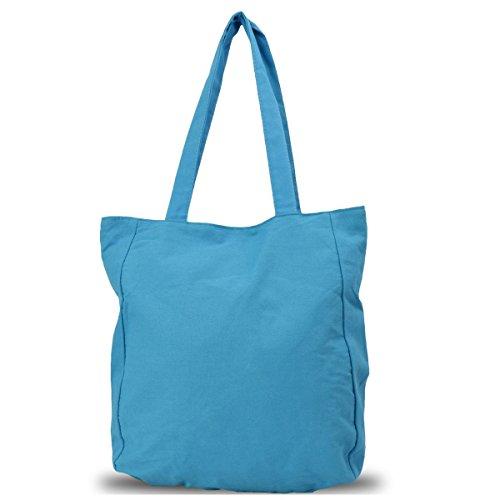 Sonia Originelli Shopper Dschungel Einkaufstasche Beutel Farbe Blau Blau