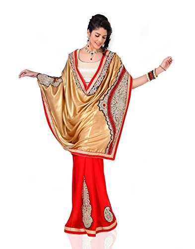 Chirag Sarees Synthetic Saree (3431_Red)
