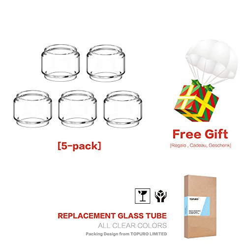 (3-Pack) Topuro TFV12 PRINCE Glass tubes Replacement Fat Glass Transparent