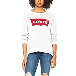 Levi's Relaxed Graphic Crew - Sweat - Femme, Blanc , M