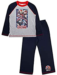 Kids Boys Marvel Avengers Age Of Ultron Pyjama Set Pyjamas 2 Piece Pjs Long Sleeved Size UK 3 to 10 Years