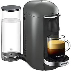 Nespresso Vertuo - Machine à café à capsules pour espresso ou café long - de 40 ml à 410 ml - Titane - Krups YY2778FD