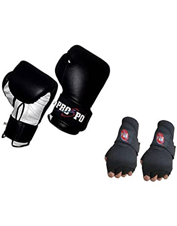 1a0f00782 Prospo 12 oz Training and Fighting Boxing Gloves With Hand wrap Gloves  (syenthetic Leather )