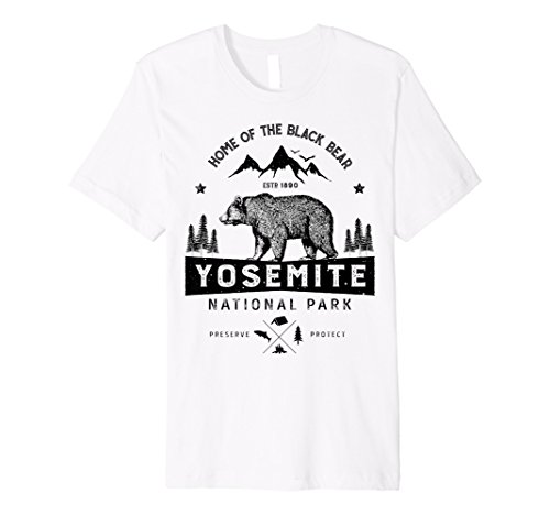 California Vintage Vintage T-shirt (Yosemite National Park California T Shirt - Vintage Bear)
