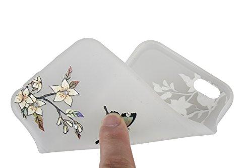 Coque Housse Etui pour iPhone 6 Plus/6S Plus, iPhone 6S Plus Coque en Silcone avec Bling Diamant, iPhone 6 Plus Coque Noctilucent Souple Slim Etui Housse, iPhone 6 Plus/6S Plus Silicone Case Soft Gel  abricot