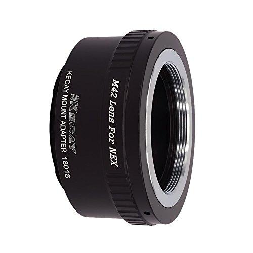 KECAY Objektiv Mount Adapter Ring Objektiv Adapterringe für M42 (42mm) Screw Mount Objektiv für Sony NEX E-Mount Mirrorless Kamera, NEX3, NEX5, NEX5N, NEX6, NEX7, NEXF3, VG10, VG20 usw. M42-NEX M42 Screw Mount