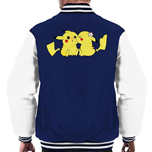 Cloud City 7 Pokemon Pikachu Love Kiss Men's Varsity Jacket