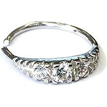 Mia Gioielli–Nariz Piercing oro 18K (750) nariz anillo de oído piercing 8x 0.7mm