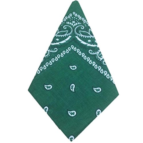 Loveso-Collection Bandana Bindetuch Kopftuch Halstuch 100% -Baumwolle gemustert: Paisley Muster (55cmX55cm/21.65