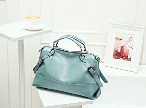 Lihaer Klassisches Damen Leder Handtasche Mode Elegant Verstellbare Umhängetasche Multifunktions Schultertasche Blau