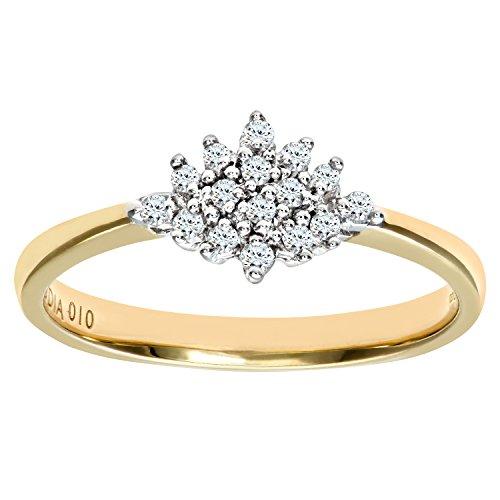 Naava Damen-Ring 9 K Gelbgold P2 Diamant