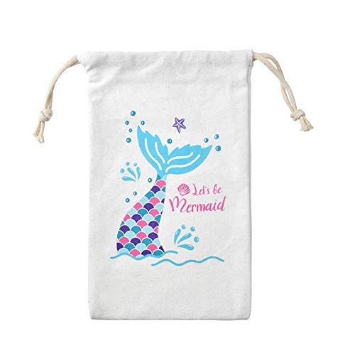 LUCK COLLECTION Meerjungfrau Partei Taschen Party Favor Treat Goodie Taschen für Kid Mermaid Party ()