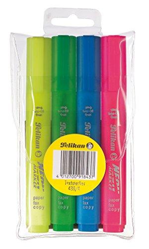 Pelikan 438/4 Textmarker, farbig sortiert, 4 Stück