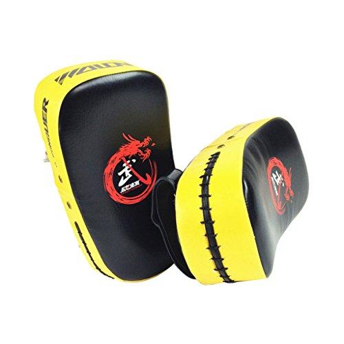Kick Boxsack Fuß Ziel-Handschuh Pad Trainingsgeräte Gelb (Mma Boxsack Boxen Ziel)