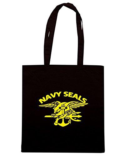 T-Shirtshock - Borsa Shopping TM0461 navy seals Nero