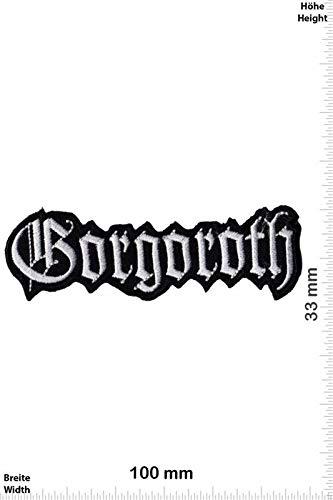 LipaLipaNa Gorgoroth - Black-Metal Aufnäher Besticktes Patch zum Aufbügeln Applique Souvenir Zubehör
