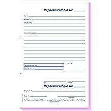 Omega presión Reparación libro Cupón SD, papel / alta consecuencia A5, 2 x 50 hojas, blanco