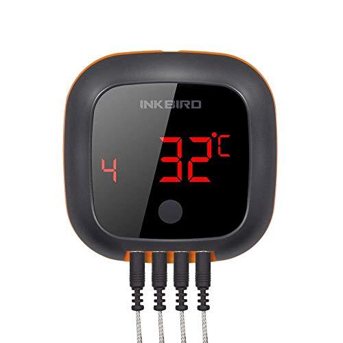 Inkbird IBT-4XS Grillthermometer kabellos Bluetooth Magnet drehbarer Bildschirm für Küche,Smoker,IOS,Android APP unterstützen