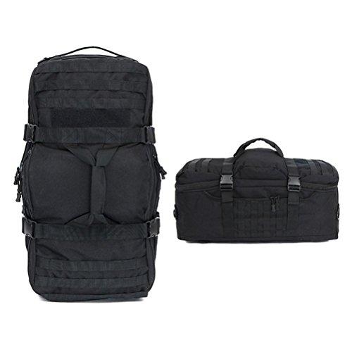 Rucksack 50L Taktische Camouflage Tasche Wandern Portable Eine Schulter Schultern Mehrzweck Outdoor Rucksack black
