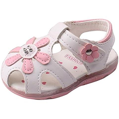 Zapatos de bebé,Xinantime Sandalias de Grasol de Chicas De suela Blanda Princesa Shoes (16, Blanco)
