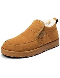 Zapatos de Hombre, Zapatos Casuales y Terciopelo, taburetes Ligeros y cómodos, Zapatos Perezosos,Flesh,7UK