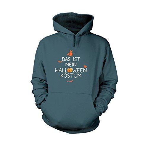 Shirtfun24 Herren DAS IST MEIN HALLOWEEN KOSTÜM Fun Hoodie airforce blau, (Halloween Air Kostüme Force)