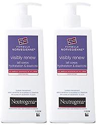 Neutrogena Visibly Renew Lait Corps Elasticité Pompe 250 ml - Lot de 2