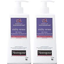 Neutrogena Visibly Renew Leche corporal hidratante, devuelve la elasticidad a la piel, bote con