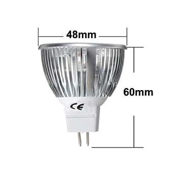 MR16 6W blanc / chaud 3 Spot LED Ampoule 12V DC