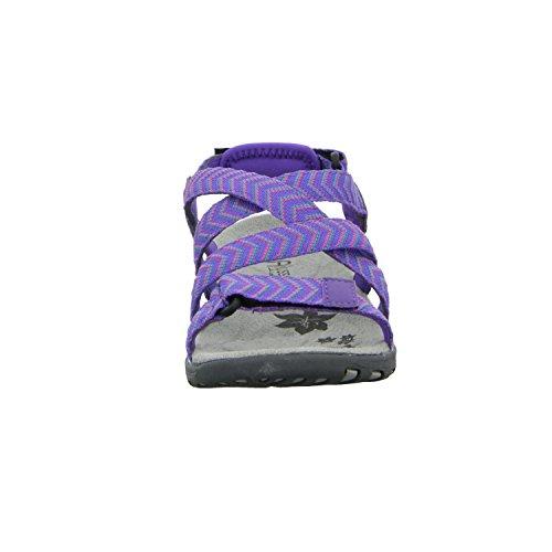 Alyssa RCL032W-2 Damen Sandalette sportlicher Boden Rot (Lila)