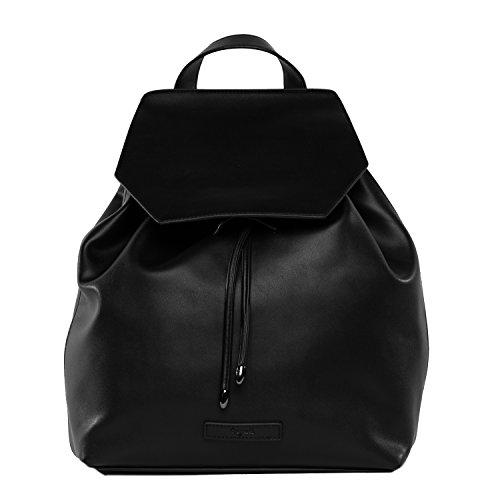 tragwert. Bolso de mano mochila MARIA en negro - Bolso de mujer bandolera bolso de hombro en cuero vegano