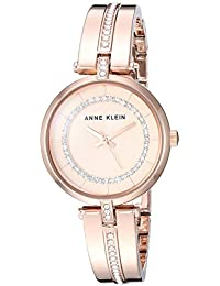 21b11a3ce54b Anne Klein AK 3248RGRG - Reloj de Pulsera para Mujer (Cristales de  Swarovski