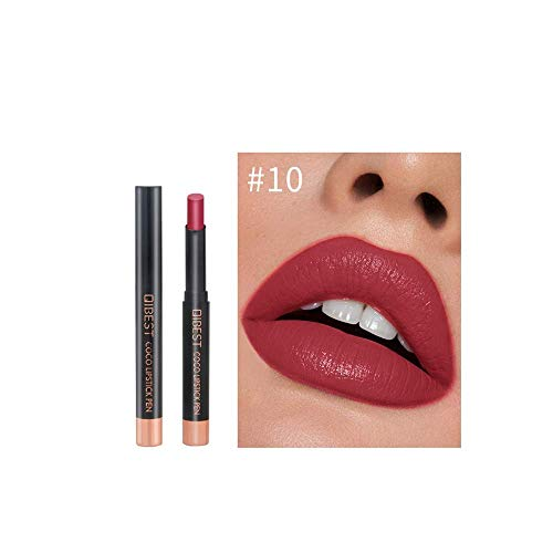 euwanyu Velvet Matte Lipstick High Saturation Color Long Lasting Waterproof Kiss-Proof Sexy Women Lady High Pigment Lip Cream for Party/Daily/Cosplay/Festival -