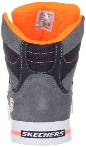 Skechers Yoke, Baskets mode Garçon Gris (CCOR)