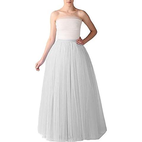 Bridal_Mall Mujer Longitud de la falda de tul suave y esponjosa Maxi enaguas de la enagua de tul