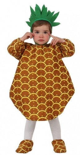 Imagen de atosa–10448–disfraz de piña para bebé–talla 0–6meses