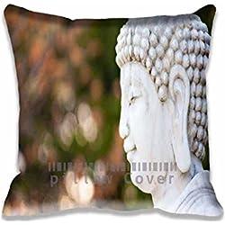 """Buda funda de almohada de 18""""x18"""", dos lados cómodo con cremallera funda de almohada casos"""