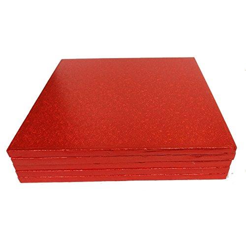 Culpitt Rouge 12 en carré pour gâteau Planches 12 en 304 mm x 13 mm (Lot de 5)