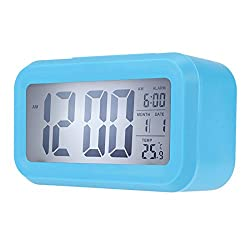 Generic Time Date Alarm Clock Temperature Display LED Alarm Clock Light-activated Sense Snooze Function Calendar Digital Clock Reveil Blue White light