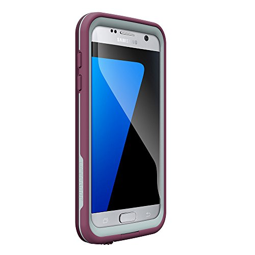 LifeProof FRE SERIES Waterproof Case for Samsung Galaxy S7 – Retail Packaging – CRUSHED (PURPLE PADDLE/SKY FLY BLUE)