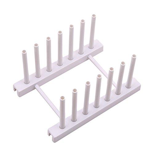 LnLyin Küche Storage Rack Teller Rack Trocknen Geschirr Multifunktional, Creative Abtropfgestell, Ständer, plastik, weiß, Einheitsgröße